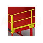12. Poręcze po 2 stronie L (OPT-HRL). Dla większego bezpieczeństwa pieszych pracujących na platformie. Wysokość 1000 мм.