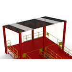 11. Dach nad platformą LXG (OPT-RF). Zestaw niezmontowany – instaluje się na miejscu przez klienta.