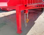 2) łańcuch niezawodnie łączy rampę ze wszystkimi typami ciężarówek;