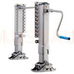 9. Regulacja wysokości (OPT-HA1). Regulacja wysokości H za pomocą nóg podporowych, montowanych na pierwszej stronie G (pod mostem FxD).