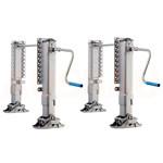 3. Regulacja wysokości z 2 stron G (OPT HA2). Regulacja wysokości H z pomocą nóg podporowych, zamontowanych po obu stronach G.